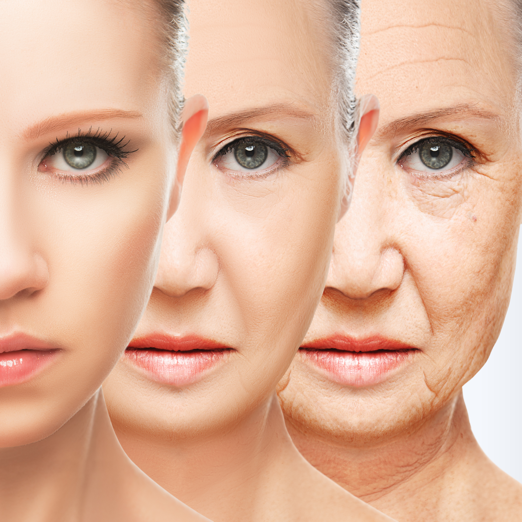 Beauty Concept Skin Aging. Anti-aging Procedures, Rejuvenation,